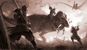 t_rex_vs_samurai_by_arvalis-d4pq931-small